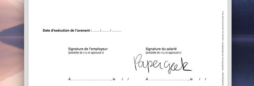 Signature électronique de document PDF